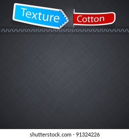 Vector illustration of grey realistic cotton texture.