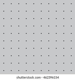 Vector illustration of a grey workshop peg board. Seamless pattern.