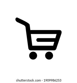 Vector illustration of a grocery cart. Symbol for shopping.