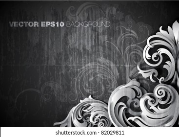 "vector illustration - grunge  ""corner"" design"