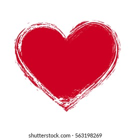 vector illustration of grunge red heart