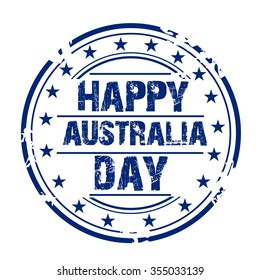 Vector illustration of a Grungy Stamp for Australia Day.