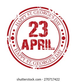 Vector illustration of a grungy stamp for Saint George's Day.