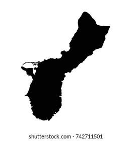 vector illustration of Guam map