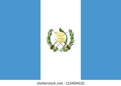 Vector and Illustration; Guatemala Flag