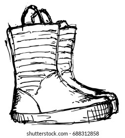 Vector illustration of Gumboots