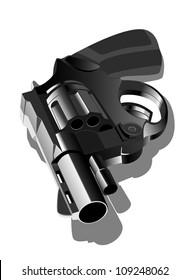 vector illustration of gun