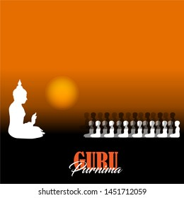 Vector Illustration of Guru Purnima which is celebrated broadly in Nepal and India specifically dedicated to spiritual and academic teachers