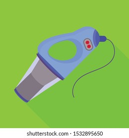 Vector illustration of hairdryer and dryer icon. Graphic of hairdryer and automobile stock symbol for web.