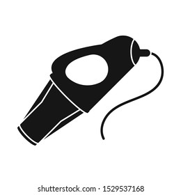 Vector illustration of hairdryer and dryer sign. Graphic of hairdryer and automobile stock symbol for web.