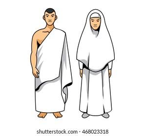 Vector illustration of hajj couple