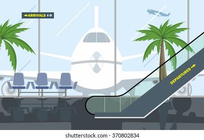Vector illustration. Hall Airport