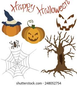 Vector illustration of a Halloween