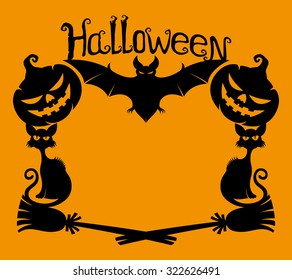 Vector illustration. Halloween background with space for text.