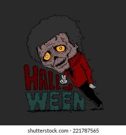 Vector illustration of Halloween Michael jackson