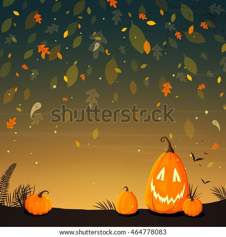 Halloween Poster Background Free.Vector Illustration Halloween Poster Background Funny Stock