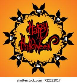 vector illustration Halloween posters, Halloween logo