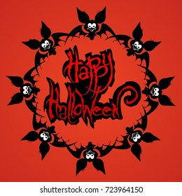 vector illustration Halloween posters, Halloween logo on a white background