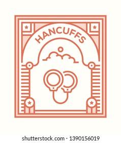 VECTOR ILLUSTRATION AND HANCUFFS ICON CONCEPT