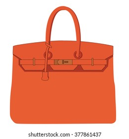 Vector illustration of a hand bag
