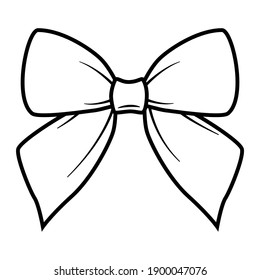 Vector illustration. Hand drawn doodle of hipster retro bow tie. Vintage elegant bowtie. Cartoon sketch. Decoration for greeting cards, posters, emblems, wallpapers