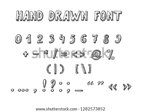 Vector Illustration Hand Drawn Font Doodle Stock Vector