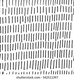 Vector illustration of hand drawn seamless pattern. Black line isolated on white background.