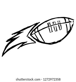 Vector Illustration of Hand Drawn Sketch of Football Sports Game Icon on Isolated Background