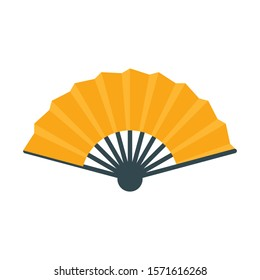 Vector illustration of a hand fan. Icon of fan for web design, printing and other.