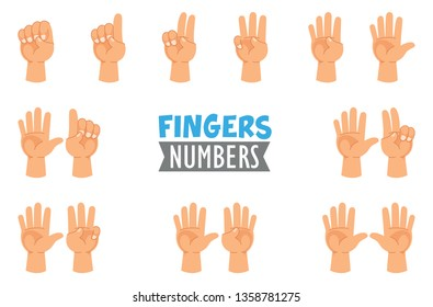 Vector Illustration Of Hand Gestures