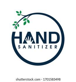 A Vector Illustration of hand sanitizer logo