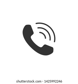 Vector illustration of handset icon.