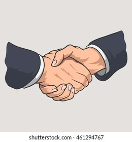 Vector illustration Handshake
