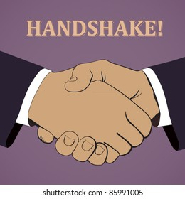 vector illustration of a handshake
