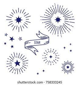 Vector Illustration of handwritten stars