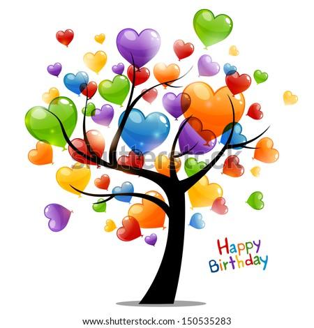 Vector illustration happy birthday greeting card stock vector vector illustration of a happy birthday greeting card m4hsunfo