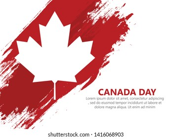 Vector Illustration of Happy Canada Day, Victoria Day in Canada