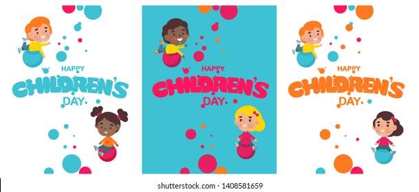 Happy Childrens Day - Download Free Vectors, Clipart Graphics & Vector Art