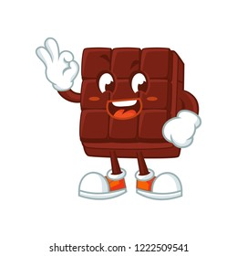 Vector illustration of a happy chocolate bar.