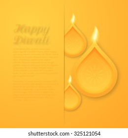 Vector illustration of a happy Diwali day.