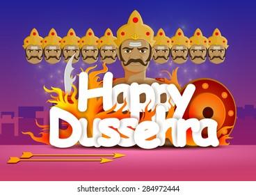 vector illustration of Happy Dussehra wallpaper background