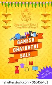 vector illustration of Happy Ganesh Chaturthi Sale offer