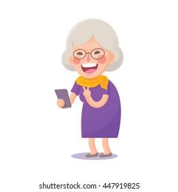 Cartoon Grandma Images Stock Photos Vectors Shutterstock