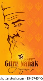 Vector illustration for happy guru nanak jayanti.