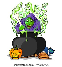 vector illustration of Happy Halloween holiday background
