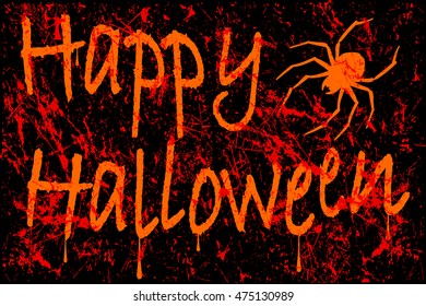 Vector illustration of Happy Halloween scratched font