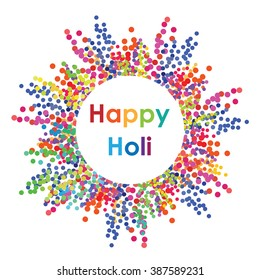vector illustration / happy holi design