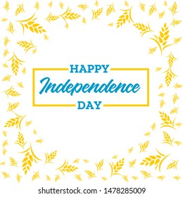 Vector Illustration happy Independence day of Ukraine. Card template for design.