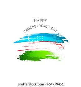 Vector illustration happy Independence Day Uzbekistan.