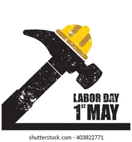 vector illustration of a happy Labor Day, a national holiday.